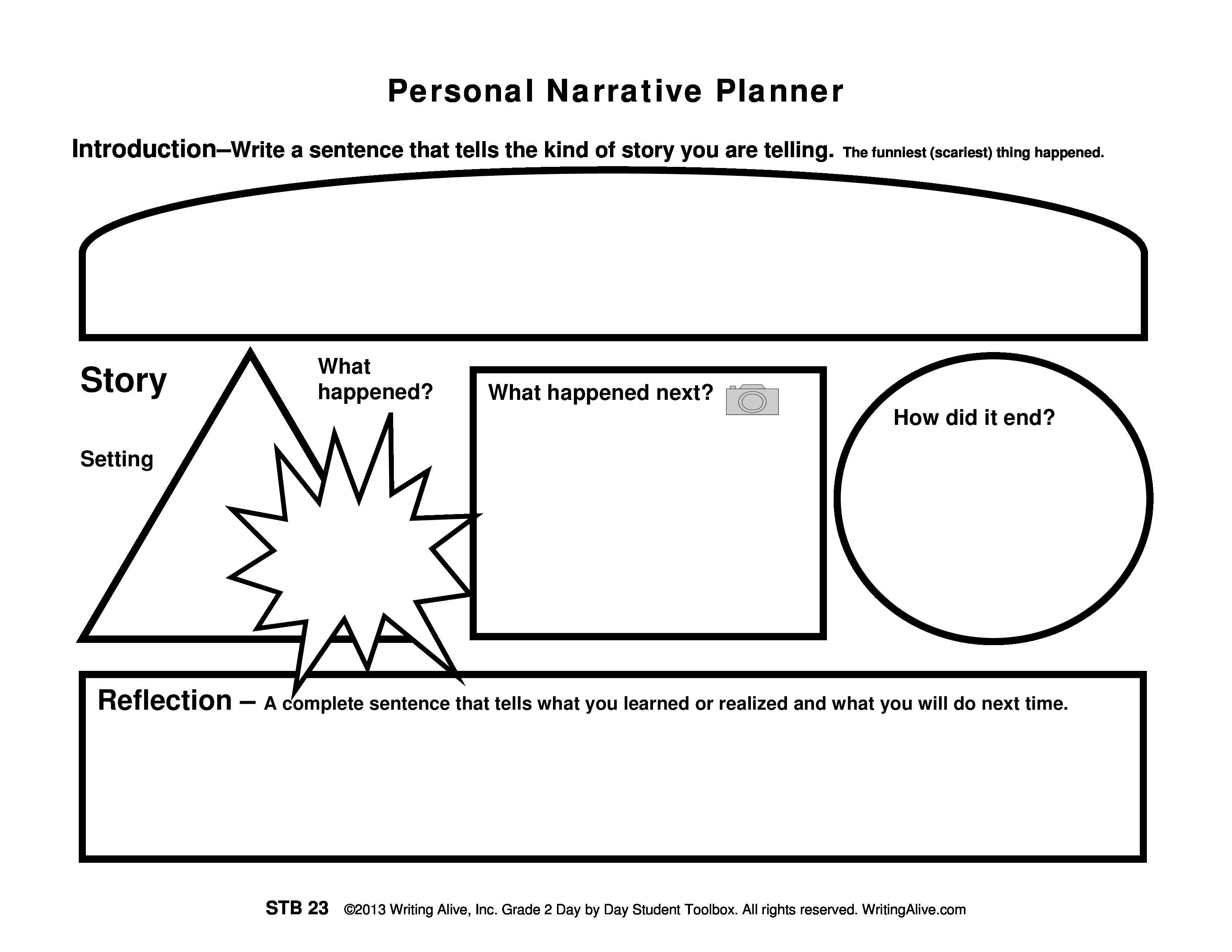 Planner Personal Narrative Planner