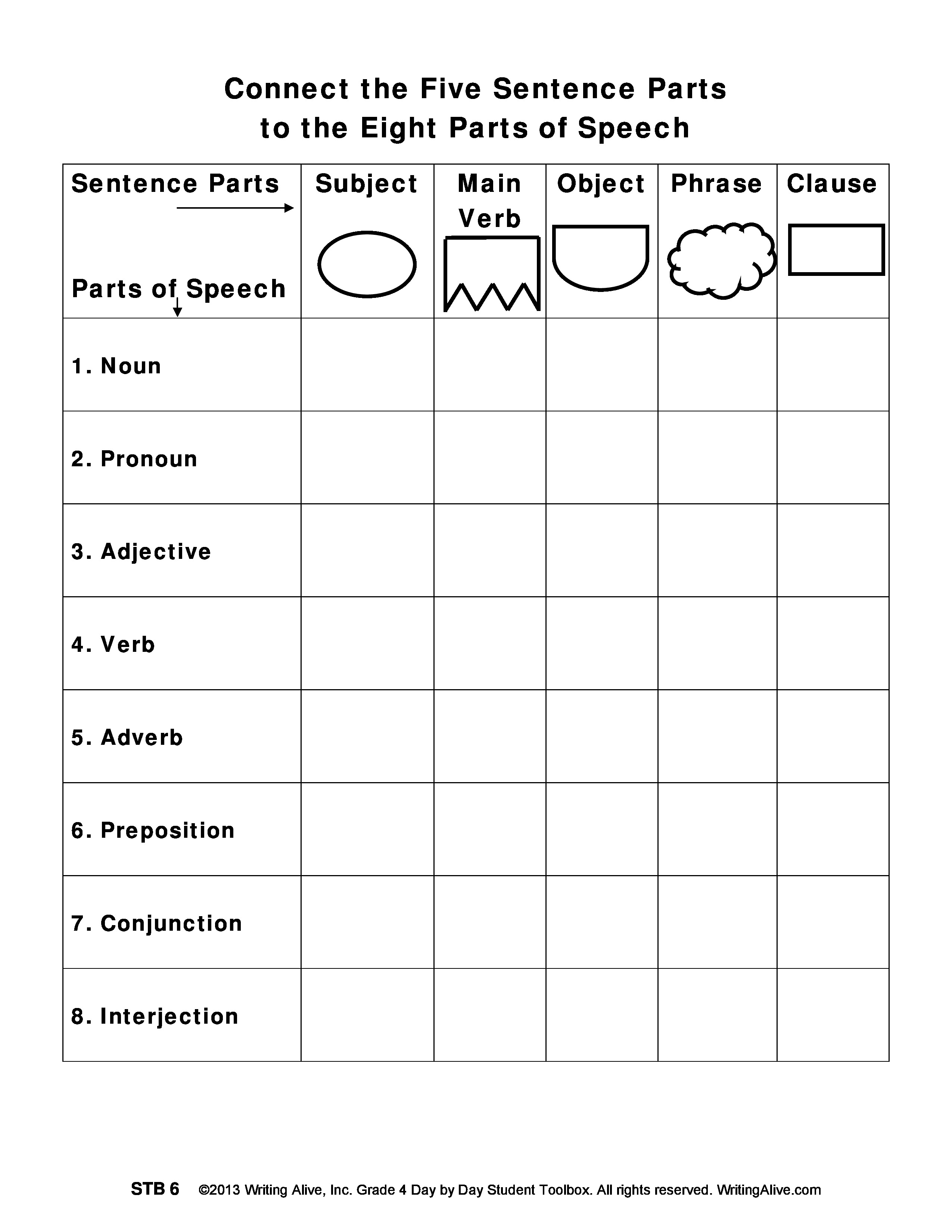 8 Parts Of Speech Test Pdf